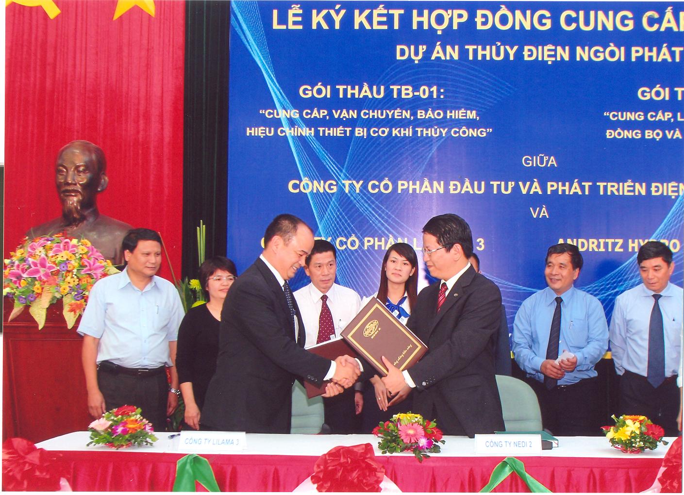 Lễ kí kết hợp đồng cung cấp thiết bị dự án thủy điện Ngòi Phát
