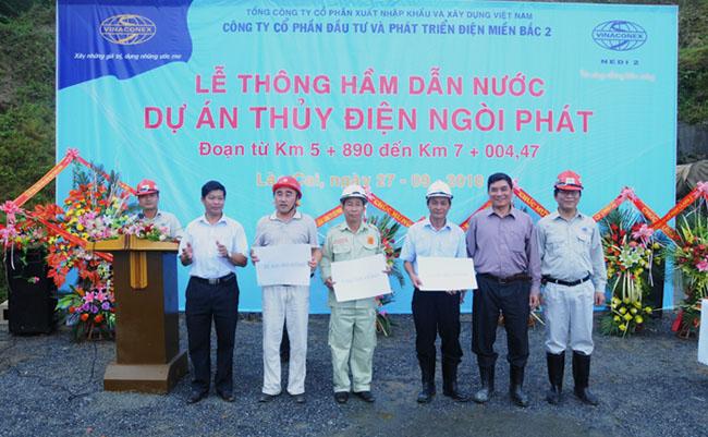 Lễ thông hầm dẫn nước dự án thủy điện Ngòi Phát