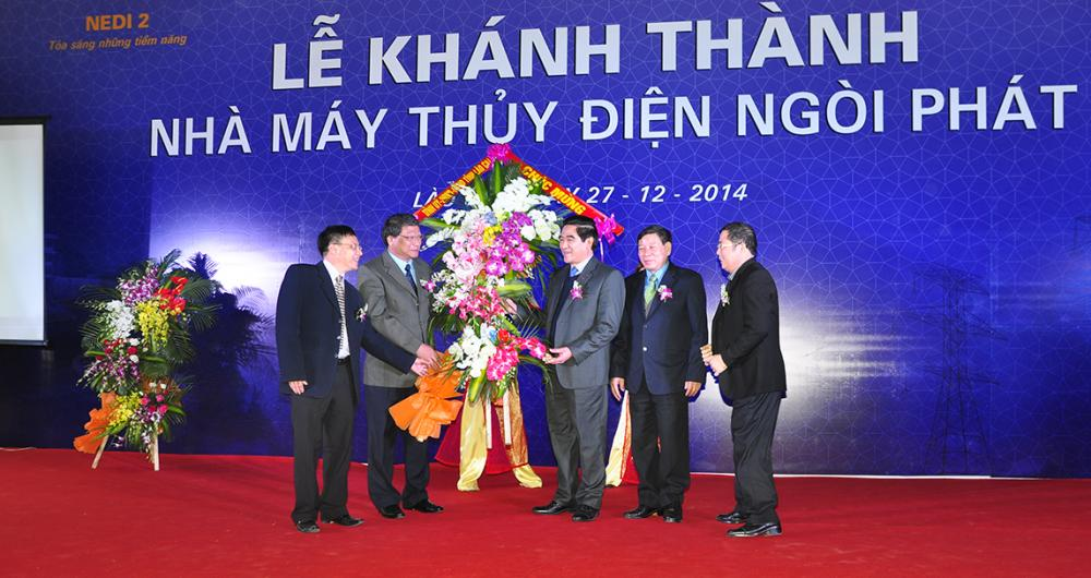 Một số hình ảnh lãnh đạo UBND tỉnh Lào Cai và lãnh đạo TCT VINACONEX tham dự Lễ Khánh Thành Nhà máy thủy điện Ngòi Phát