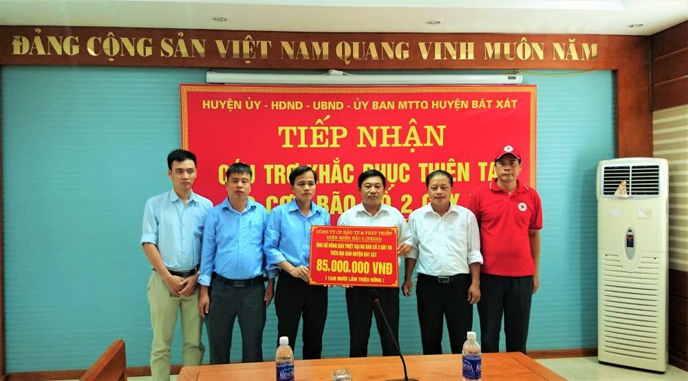 Công ty NEDI2 ủng hộ đồng bào khắc phục hậu quả thiên tai do cơn bão số 2 gây ra tại huyện Bát Xát, tỉnh Lào Cai