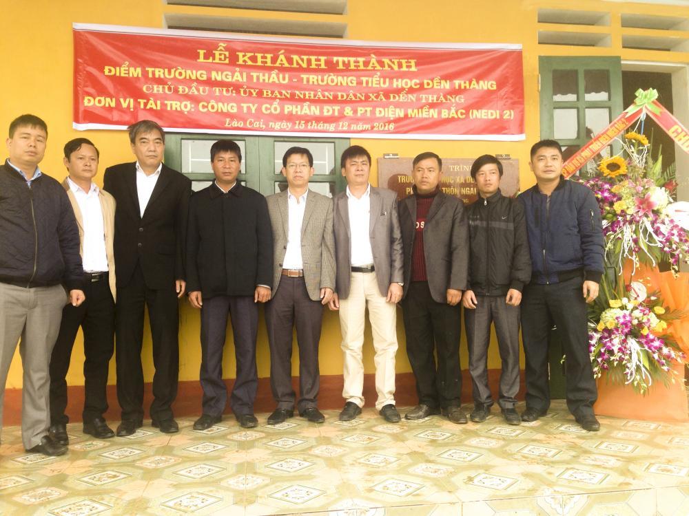 Lễ bàn giao và đưa vào sử dụng công trình Trường học thôn Ngải Thầu do Công ty NEDI2 tài trợ vốn.