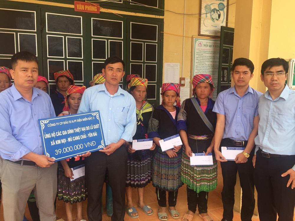 Công ty NEDI2 tổ chức ủng hộ, tặng quà giúp đỡ các gia đình thiệt hại do lũ quét gây ra trên địa bàn huyện Mù Cang Chải, tỉnh Yên Bái