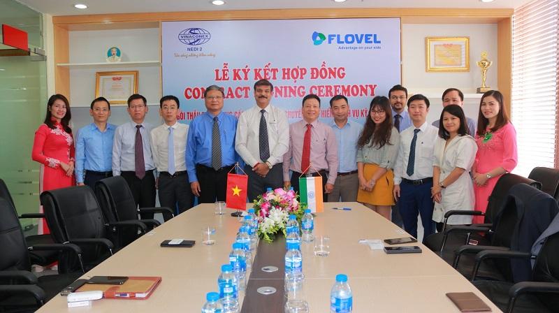 Lễ ký kết hợp đồng gói thầu TB01 giữa Công ty CP NEDI2 và Công ty Flovel