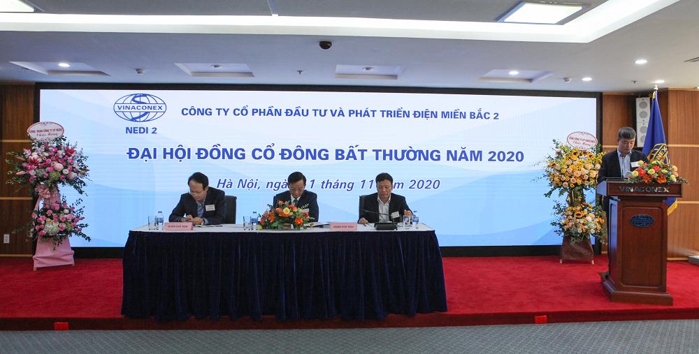 Công ty CP NEDI2 tổ chức thành công Đại hội đồng cổ đông bất thường năm 2020